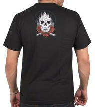 Sullen Art Collective Mens Black Altar Skull Roses Inked Tattoo Goth T-Shirt NW image 2