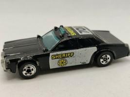 Vintage 1977 Mattel Hot Wheels Black Sheriff #701 Patrol Car Police Car  - $14.01
