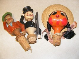 3 vintage wine stoppers - $18.76