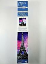 Artists Loft Paint By Number Kit Eiffel Tower 48 Pc 16 X 20 Paint & Brus... - $17.77