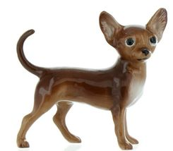 Hagen Renaker Pedigree Dog Chihuahua Large Brown and White Ceramic Figurine image 3