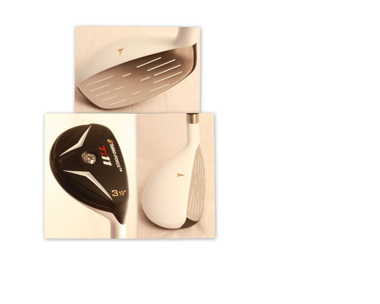 NEW mens WHITE Hybird Golf Clubs taylor fit custom made #3 CLUB 19° +1 for 6ft +