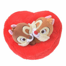 Disney Store Japan Valentine Chip 'n Dale Heart Plush New with Tags - $15.92