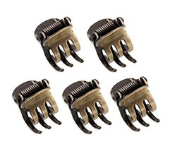Set of 5 Retro Style Mini Claw Clips Hair Claw Hair Clips Bronze #01 - $20.96
