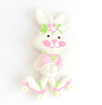 Vintage Avon Easter Bunny Rabbit Glace Pin Fragrance Childrens Pin Pal J... - $11.95