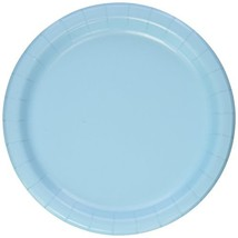 """Creative Converting Pastel Blue Dinner Plates, 24 Count, 9"""" - 011012 - $5.41"""