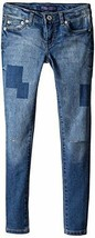Levi's Big Girls' Destructed Denim Legging, Coastal Sky, 12 - $19.79