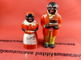 Vintage ~Aunt Jemima~Uncle Moses ~Black Americana~Nutmeg and Pepper Shak... - $23.75