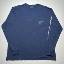 Men's Vineyard Vines Whale Pocket Long Sleeve T Shirt Size Large Navy Bl... - £17.94 GBP