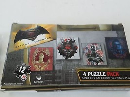 Batman v Superman 4 Pack of Jigsaw Puzzles 5x4.5 Inches - $6.92