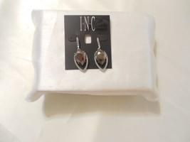 "INC 1-3/4"" Silver Tone Grey Stone Pave Crystal Dangle Drop Earrings C566 - $13.43"