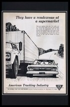 1964 American Trucking Industry Framed 11x17 ORIGINAL Vintage Advertisin... - $65.09