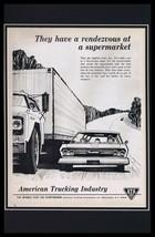 1964 American Trucking Industry Framed 11x17 ORIGINAL Vintage Advertisin... - $69.29