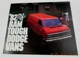 1982 Dodge Vans RAM Tough Vintage Dealer Sales Brochure Pamphlet MOPAR - $7.49