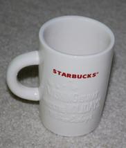 2010 Starbucks Coffee Mug Christmas Holidays White & Red Holiday Mugs - $17.30