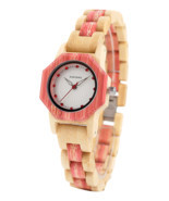 BOBO BIRD Brand Women Bamboo Quartz Watch Special Design for Ladies Wood... - £27.33 GBP