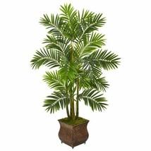 """Luxury Multicolor 60"""" Areca Palm Artificial Tree in Metal Planter - 60"""" - $239.88"""
