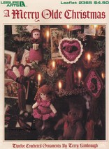 A Merry Olde Christmas, Leisure Arts Crochet Ornaments Pattern Booklet 2365 - $5.95
