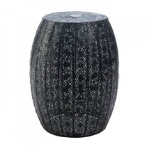 Black Moroccan Lace Stool - £63.72 GBP