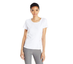 X By Gottex Women's Short Sleeve Top With Powermesh Trim, White Extra Sm... - $35.76