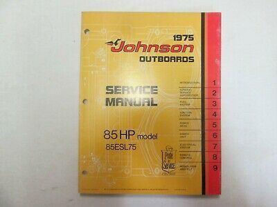 1975 Johnson Außenborder 85 HP Modell 85ESL75 Service Reparatur Shop Manual JM