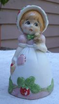 Vintage Country Girl w/ Strawberries Bell,porce... - $6.99