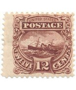 117-E2e, 12c SS Adriatic Plate Essay in Red Brown on Stamp Paper, OG, 18... - $129.00