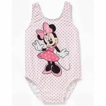 Toddler Girls 2T-5T Disney Minnie Mouse Pink White Dot Swimsuit Swim Swi... - $16.99