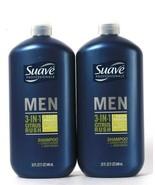 2 Count Suave Professionals 32 Oz Men 3in1 Citrus Rush Shampoo Condition... - $23.99