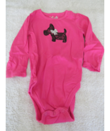 Jumping Bean Body Suit 18 Mos Pink With Black Dog - $4.99