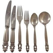 Acorn by Georg Jensen Sterling Silver Dinner Flatware Set 12 Service 72 ... - $9,895.05