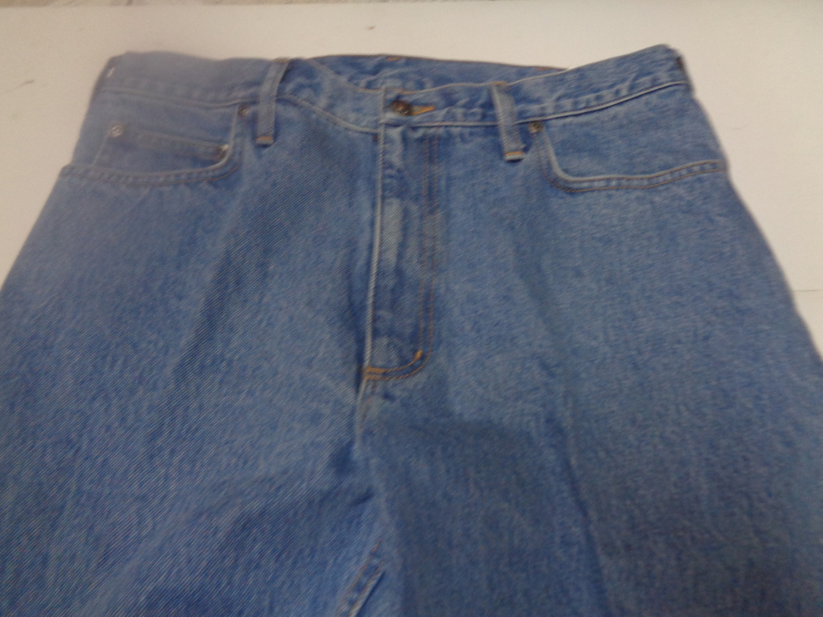 Men's Lands' End Square Rigger Blue Jeans NWT Relaxed Fit SZ 34 x 30