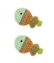2 Pairs Of Beautiful Yellow Fish Wool Handmade Hair Accessories Hairpin