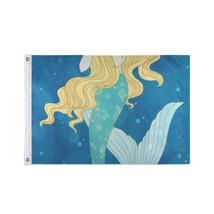 Custom Decor Flags Beautiful Cute Mystical Mermaid Printed Flags - $24.99