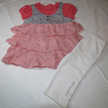 Calvin Klein 3T 3 Toddler girls 2 pc set Dress pants leggings 3722678-99... - $20.78
