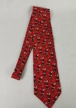 Chritsmas Santa Golf Tie Silk Hallmark Holiday Traditions MMG Novelty Ti... - $9.60