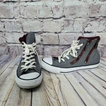 Converse Chuck Taylors Hi Top Womens Size 7 EU37.5 Double Zipper Grey Sn... - $32.68