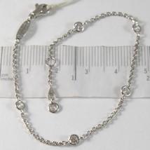 Bracelet en or Blanc 750 18K Zircon et Chaîne Vis- , Longueur 18.5 CM - $252.45