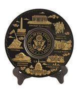 Washington D.C. Metal Souvenir Plate with Great Seal of America (Black a... - $19.99