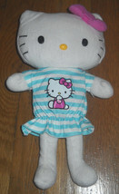 ! SANRIO HELLO KITTY PLUSH DOLL STUFFED ANIMAL 11''  w/ or w/o blue stri... - $7.91