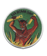"""4"""" AIR FORCE 555TH BOMB SQUADRON DEVIL EMBROIDERED PATCH - $23.74"""