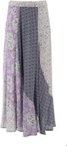 DG2 Diane Gilman Patchwork Skirt LAVENDER S NEW 688-324 - $58.39