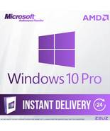 Brand New Windows 10 Pro 32/64 bit License RETAIL AMD - $25.99