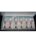 Italy Handmade Wine Glasses Fratelli Fumo Cristalleria Set Of 6 Original... - $124.95