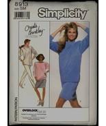 Unc 80s Size S M Christie Brinkley Knit Top Pants Skirt Simplicity 8913 ... - $6.99