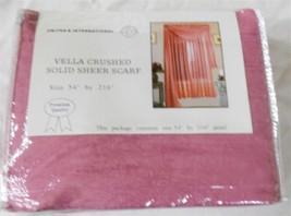 "Vella Window Scarf Sheer Crushed Rose 54"" x 216"" New - $7.81"