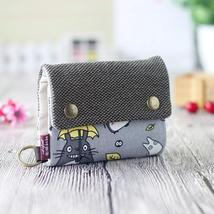 New Anime Japan Totoro Cat Wallet Pouch Case Short Canvas Mo 2 D0P - $13.63