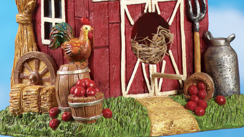 Country Red Barn Birdhouse