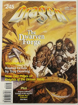 TSR Dragon Magazine #245 The Dwarven Forge Mindstalkers Role Playing Games - $14.50