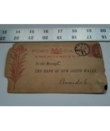 Home Treasure 1888 Postcard Deposit Advice Notice New South Wales Bank S... - $23.74